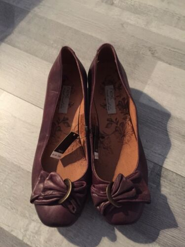 Purple Bn Sz 6 Bow Leather 5 Heel £ 40 Rrp Next Detail Shoes UgqqxBH5w
