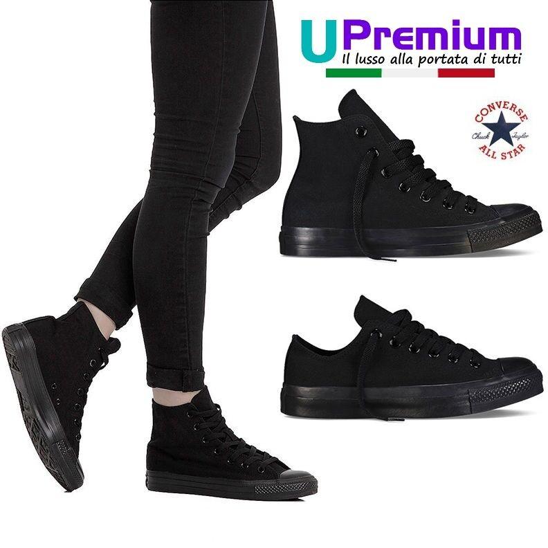 Zapato alta  Converse ORIGINALI hombre mujer chuck taylor Pantalla alta Zapato bassa NEGRO all Negro f6c5a8