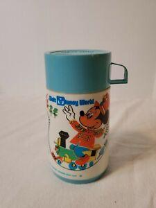 Vintage Walt Disney World Mickey Mouse Thermos Bottle Aladdin 1970's VGC
