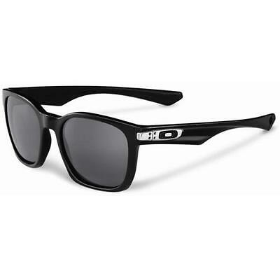 New Oakley OO9175-01 GARAGE ROCK Polished Black Frame Grey Mens Sunglasses