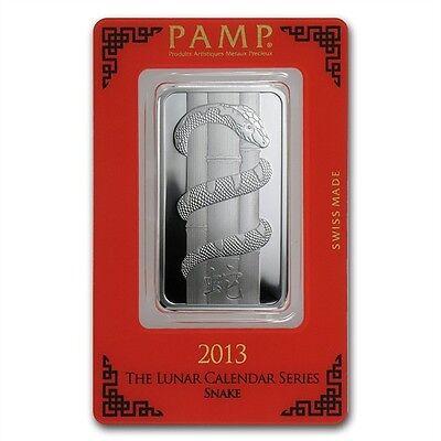 Chinese Lunar Calendar Year of the Snake 2013 1 oz .999 Silver Bar