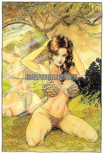 Cavewoman Mirror Image Signed Print by Budd Root