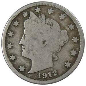 1912-D-Liberty-Head-V-Nickel-5-Cent-Piece-5c-US-Coin-Collectible