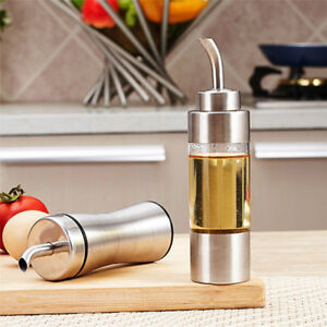 2pcs//Set Plastic Salt Pepper Vinegar Oil Cruet Shaker Jar Clear Bottle Pot anVX
