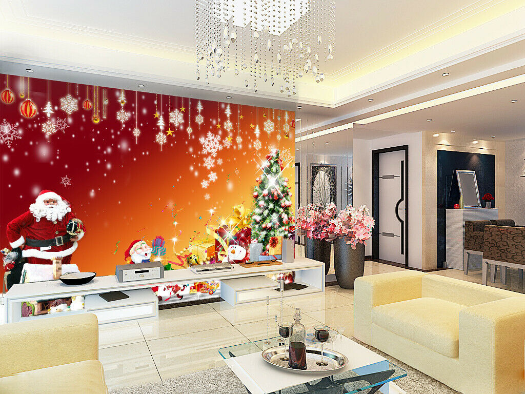 3D Snowflake I152 Christmas Wallpaper Mural Sefl-adhesive Removable Sticker Amy
