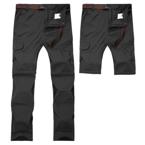 Hombre Exterior Senderismo Pantalones Desmontable Impermeable Cargo Militar