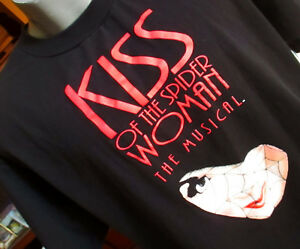 XL-True-Vtg-90s-KISS-OF-SPIDER-WOMAN-MUSICAL-GRAPHIC-BLACK-T-shirt-JERZEES-USA