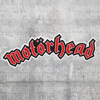 Motorhead Decal Sticker Die Cut Color Window Adhesive Laptop Rock Band Music