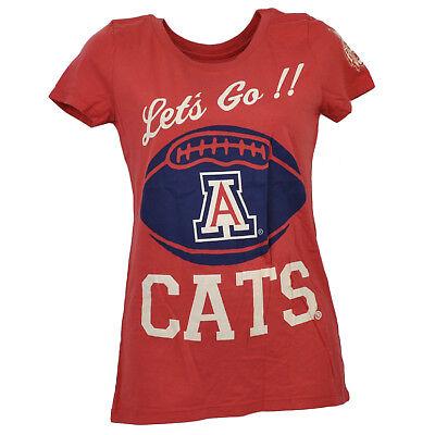 Methodisch Ncaa Arizona Wildcats Rot Rundhals Kurzarm Damen T-shirt Sportshirt Sport
