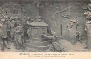 Orleans-Bas-Relief-of-La-Statue-of-Jeanne-D-039-Arc