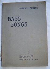 c 1901 BASS SONGS Imperial Edition BOOSEY & CO bass songs & piano (7)