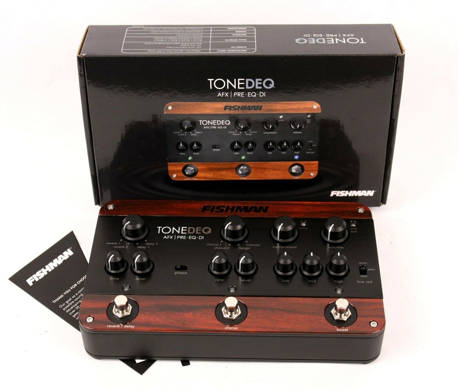 Fishman ToneDEQ Acoustic Instrument Preamp Equalizer Guitar Effect Pedal