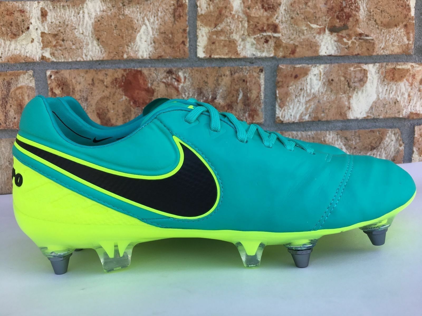 dff6fbe23 NIKE TIEMPO LEGEND VI SG PRO SOCCER SOCCER SOCCER CLEATS SIZE 12.5 JADE  GREEN VOLT 819680-308 1c977b