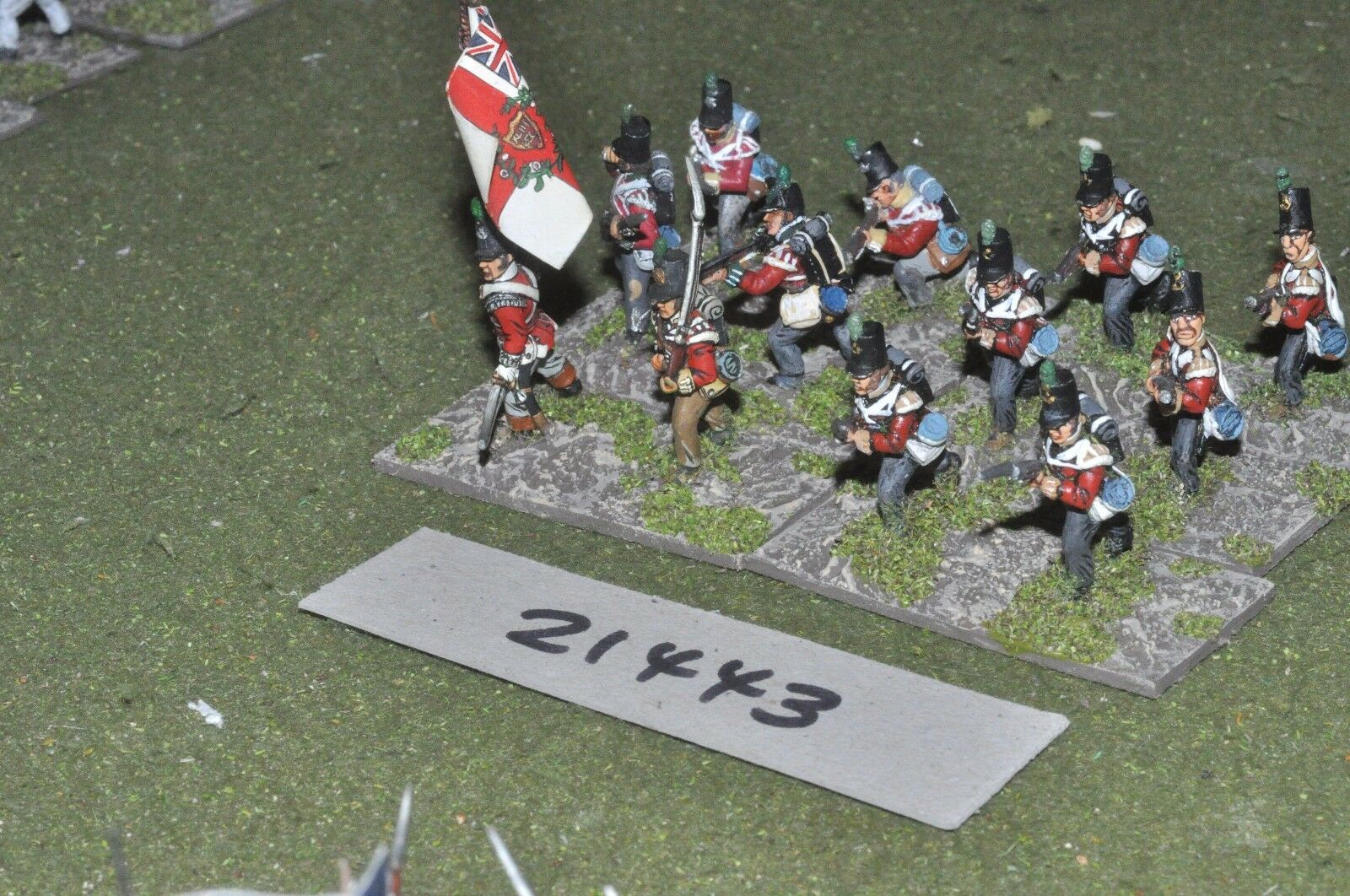 25mm napoleonic   british - infantry 12 figs - inf (21443)