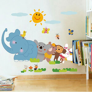 5705-Wall-Stickers-Jungle-Cartoon-Cute-Animals