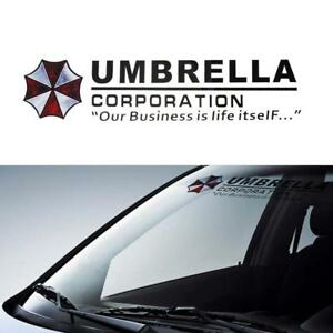 Image is loading Large-70cm-Umbrella-Car-Front-Rear-Windshield-Stickers-