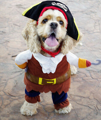 Pet Dog Halloween Costumes Dog Clothes Pirate Captain Apparel Puppy Cat Clothing