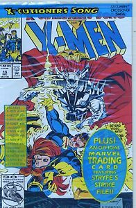 1992  X-MEN #15   X-CUTIONER'S SONG ( BAGGED WITH MARVEL TRADING CARD  ) NM