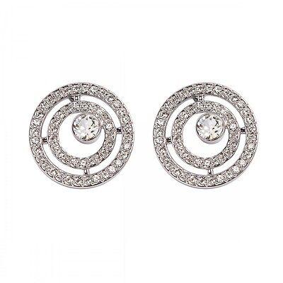 DSE 5087596 Pavé Circle Earrings Swarovski crystal / rhodium-plated Authentic