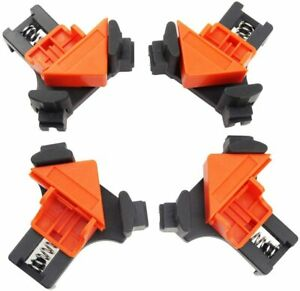 CORNER CLAMP KIT Fixing Clips Picture Frame Corner Clamp Adjustable Angle 4 Pack