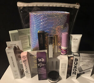 Ulta Beauty Summer Travel Essentials 12 Piece sampler w/ 2 Cosmetic Bags