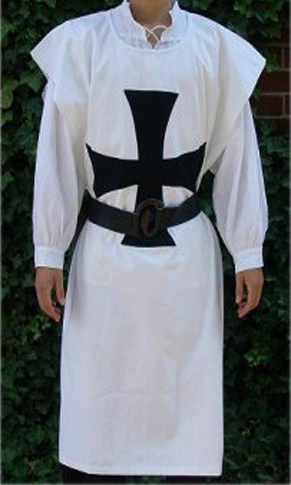 A Brand New Medieval Viking Costume White Color Tunic Renaissance Sleeveless