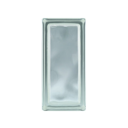 = 6 Stück 1 Paket Glasbausteine Glasstein WOLKE KLAR 19x9x8cm Halbstein