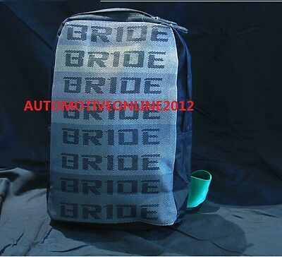 JDM V3 BRIDE & Green Harness Backpack Laptop Graduation Bag Drift Race School