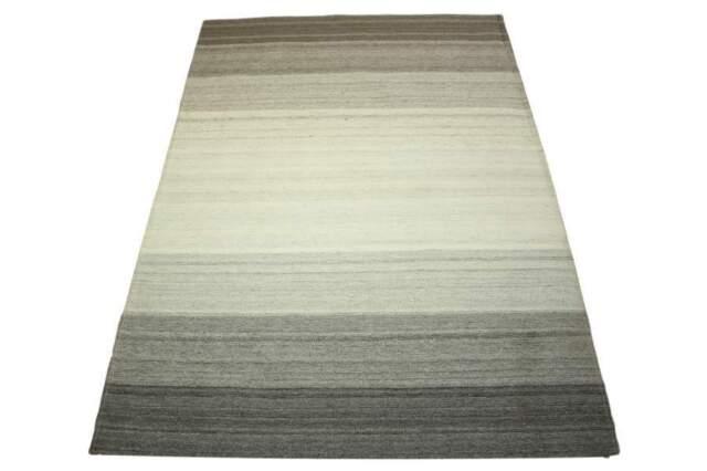 Teppich Flachgewebe 160x230 Cm Polyester Baumwolle Braun Beige Grau