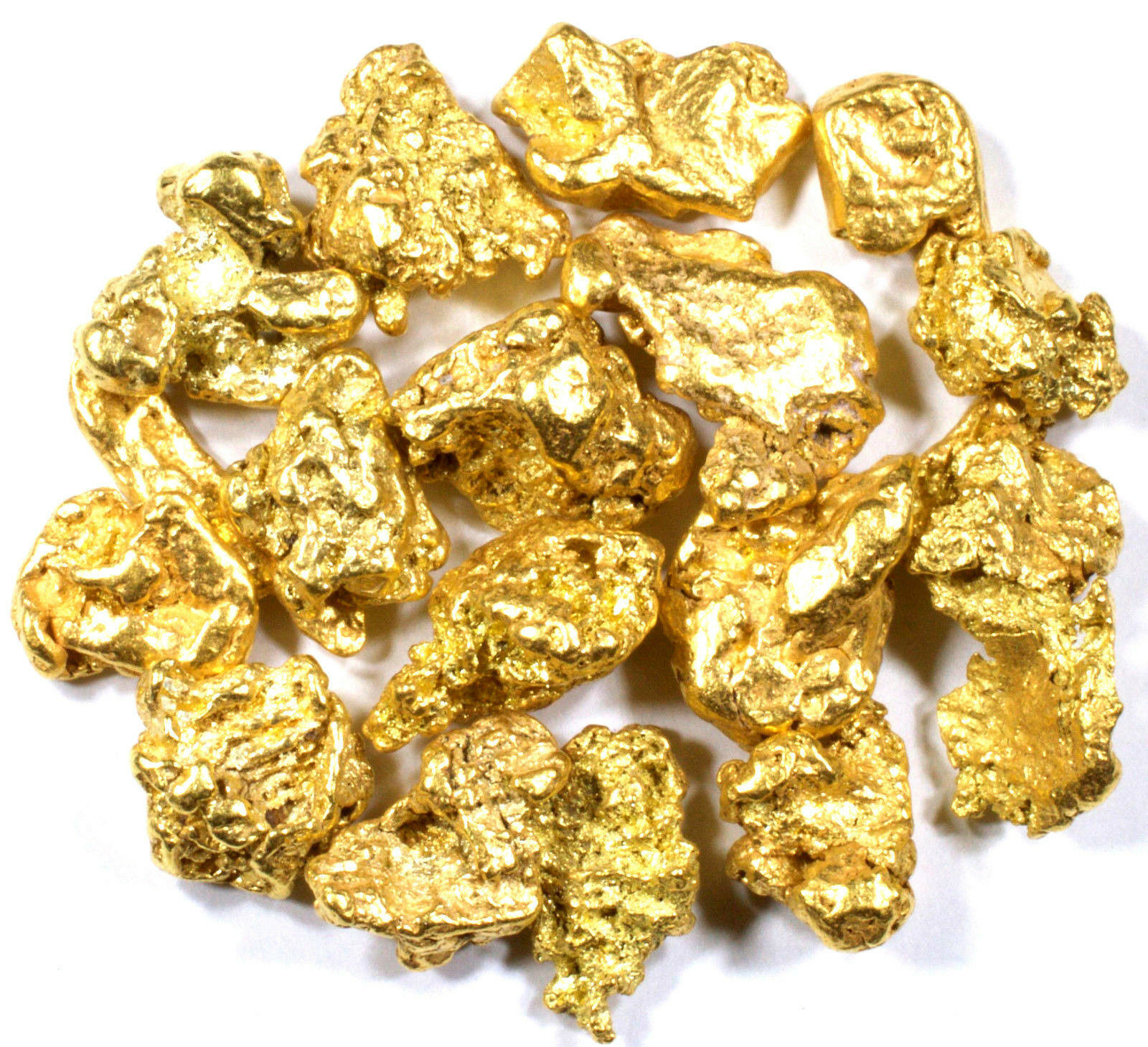 20 PIECE LOT ALASKAN YUKON BC NATURAL PURE GOLD NUGGETS FREE SHIPPING #L250
