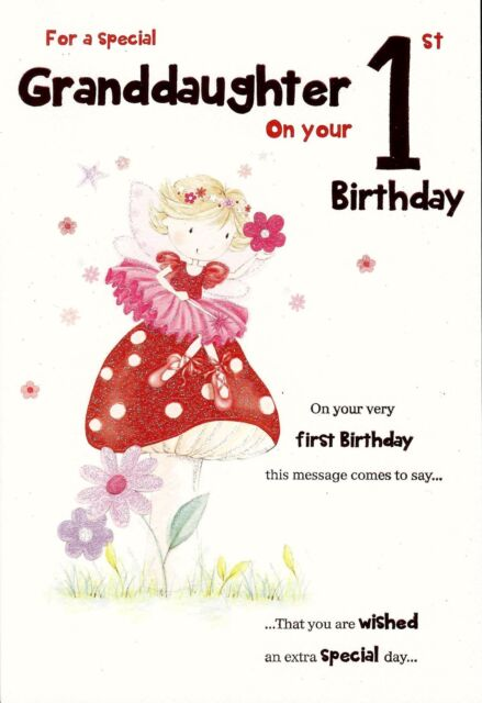 Amazing For A Special Granddaughter On Your 1st Birthday Greeting Card