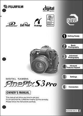 FujiFilm FinePix S3 Pro Digital Camera User Guide Instruction Manual | eBay