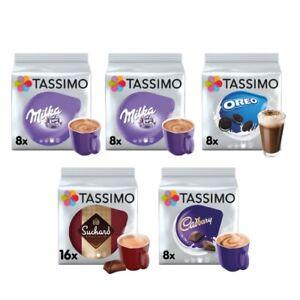Tassimo Hot Chocolate Variety Bundle Cadbury/Oreo/Milka/Suchard Pods (Pack of 5)