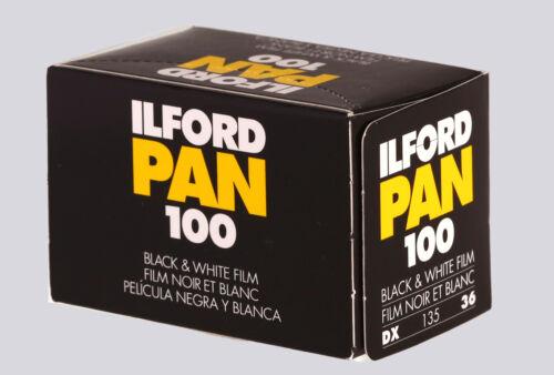 Pellicola negativo bianco e nero ILFORD PAN 100  135-36
