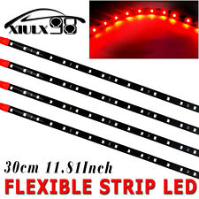4pcs Red 30CM/15 LED Flexible Strip Light Bar Car Motor Boat Bike Waterproof 12V