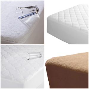Extra-Profundo-Acolchado-Terry-de-colchon-protector-de-colchon-cubierta-de-cama-equipada-Todas-Las