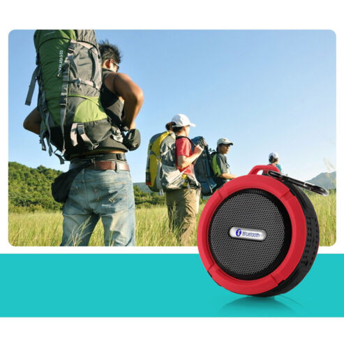 C6 Waterproof Handsfree Mic Speaker Suction Chuck Shower Car Wireless Bluetooth