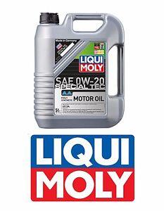 fits honda liqui moly 0w 20 aa fully synthetic sn gf5 engine motor oil 5 liters ebay. Black Bedroom Furniture Sets. Home Design Ideas