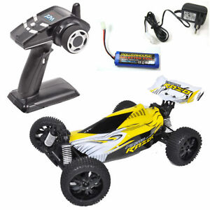 T2m #t4910g Pirate Rasoir 1-10 Buggy Électronique 2,4 Ghz Jaune Akku