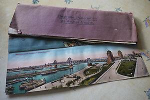 Album-carnet-12-cartes-postales-anciennes-Reizvolle-Panoramen-Deutscher-Stadte