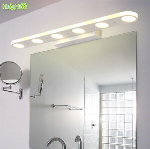 Details About Modern Bathroom Led Vanity Lights Acrylic Front Mirror Toilet Wall Lamp Fixture