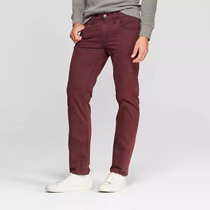 Pantalones Chino Rectos Para Hombre Fit Goodfellow Co Granate Rose Ebay