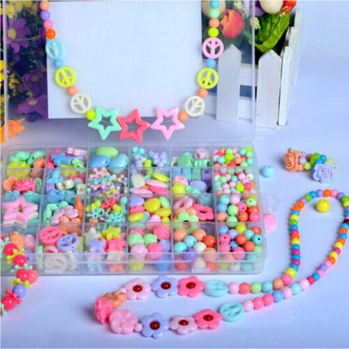 450 PiecesSet Colorful Beads Bracelet Kids Personalized Jigsaw Puzzle Toys FT
