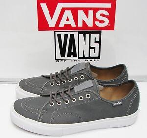 Vans-AV-Classic-Waxed-Twill-Grey-VN-0XB4DQX-Men-039-s-Size-10-5