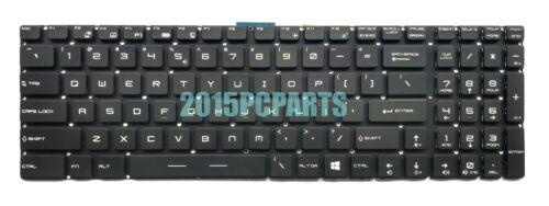 New MSI Steel GL62 GL72 Gaming Keyboard Full Colorful Backlit US