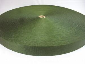 10 yards of 1 3/4 military type super heavy nylon webbing  OD green abt 3mm