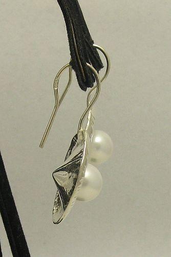 Silber Ohrringe 925 PERLE E000210P