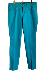 LEVI-039-S-Women-524-Too-Superlow-Turquoise-Skinny-Jeans-Size-W30-X-L32