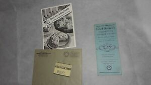 1930's; 2 Antique Recipe Booklets: Chef Amiet, Palmer House, Chicago & Pet Milk