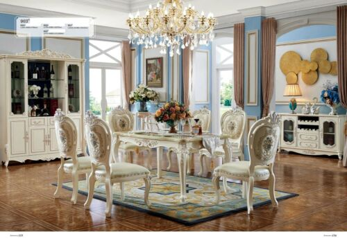 4x Chair Classic Rococo Baroque Armchair Chairs Lehn Chair Upholstered Dining 903